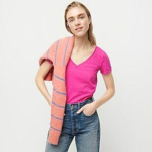 J.crew pink linen v-neck tee